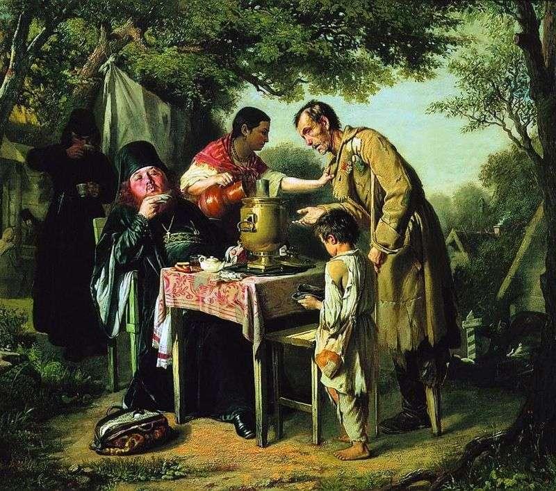 Picie herbaty w Mytishchi pod Moskwą   Wasilij Perow