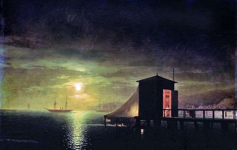 Księżycowa noc Kąpiel w Teodozji   Iwan Ajwazowski