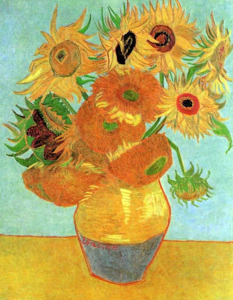 Wazon z dwunastoma słonecznikami   Vincent Van Gogh