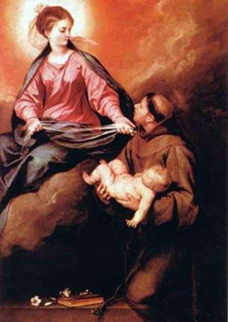 Wizja sv. Antonio Matka Boska z Dzieciątkiem   Alonso Cano