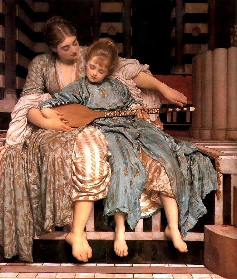 Lekcja muzyki   Frederick Leighton