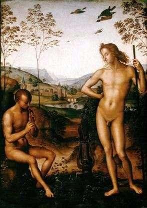 Apollo i Marsyas   Pietro Perugino