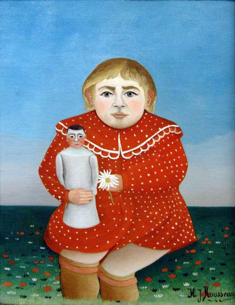 Dziecko z lalką   Henri Rousseau