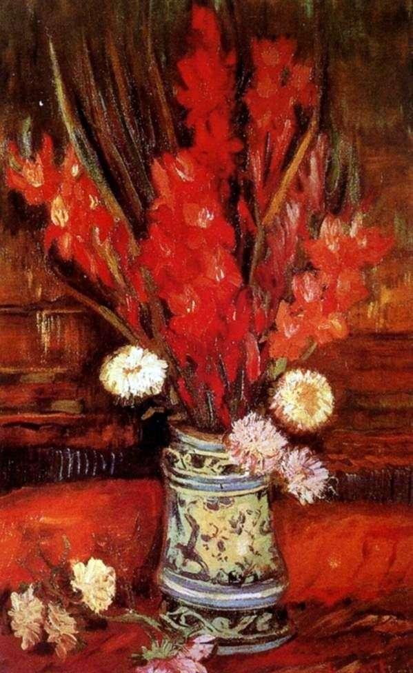 Wazon z czerwonym Gladiolus II   Vincent Van Gogh