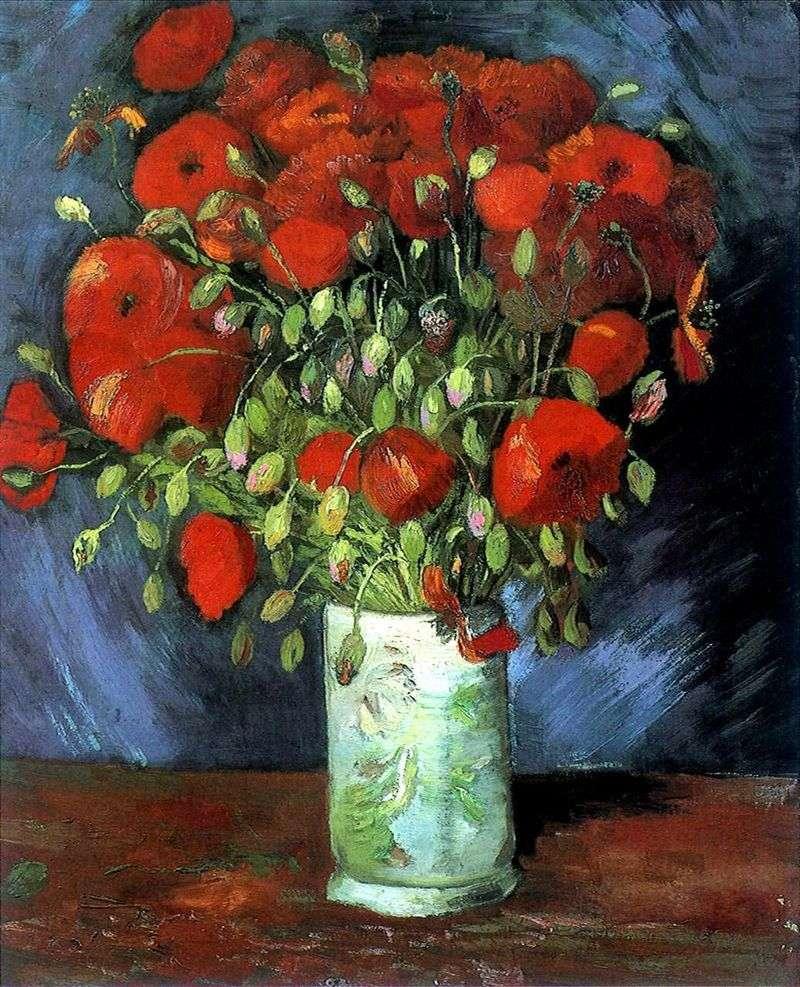 Wazon z czerwonego maku   Vincent Van Gogh