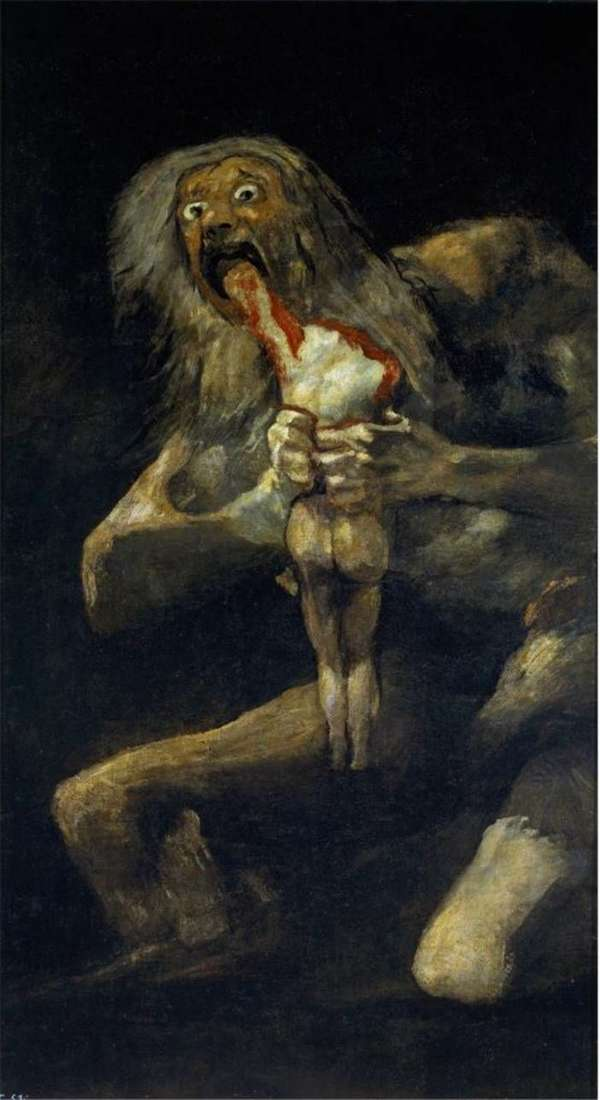 Saturn pożerający swojego syna   Francisco de Goya