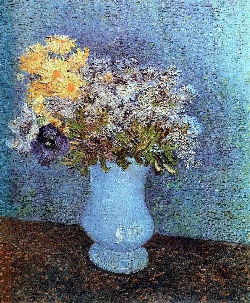 Wazon z bzem, stokrotkami i ukwiałami   Vincent Van Gogh