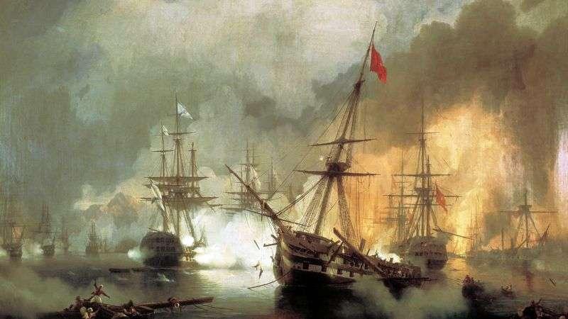Bitwa morska Navarin, 2 października 1827   Ivan Aivazovsky