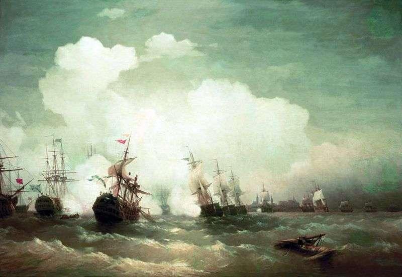 Bitwa morska w Revel   Ivan Aivazovsky
