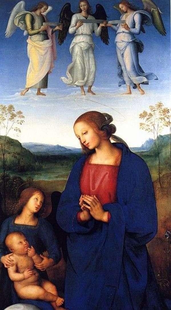 Madonna z Dzieciątkiem i Aniołem   Pietro di Christopher Vanucci Perugino