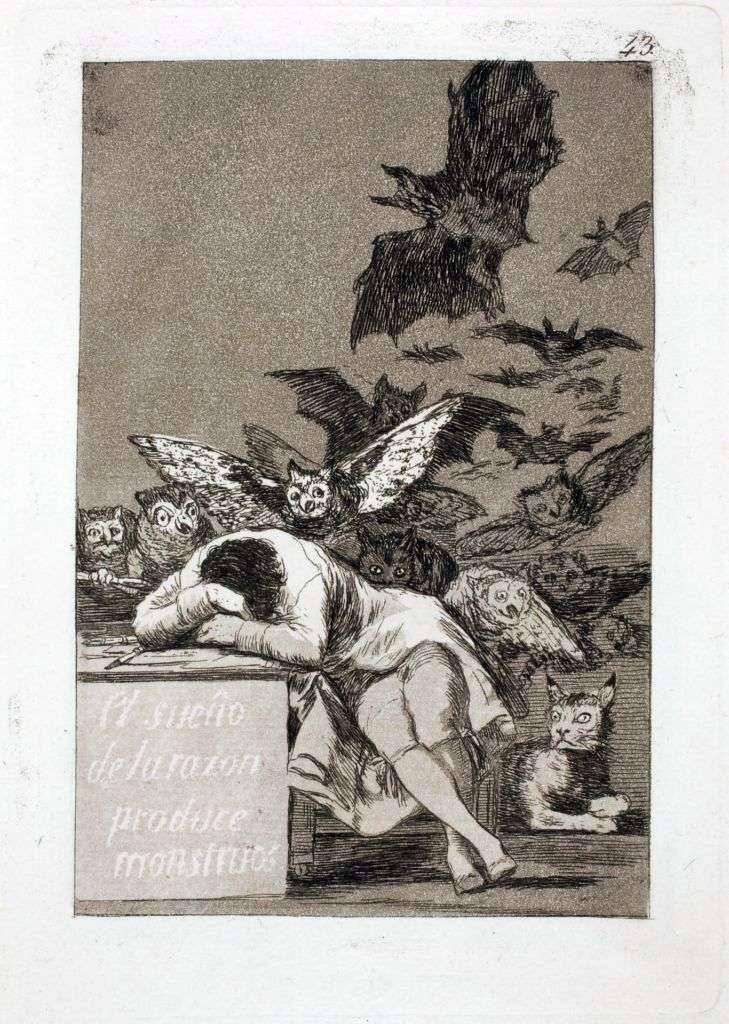 Sen rozumu produkuje potwory   Francisco de Goya
