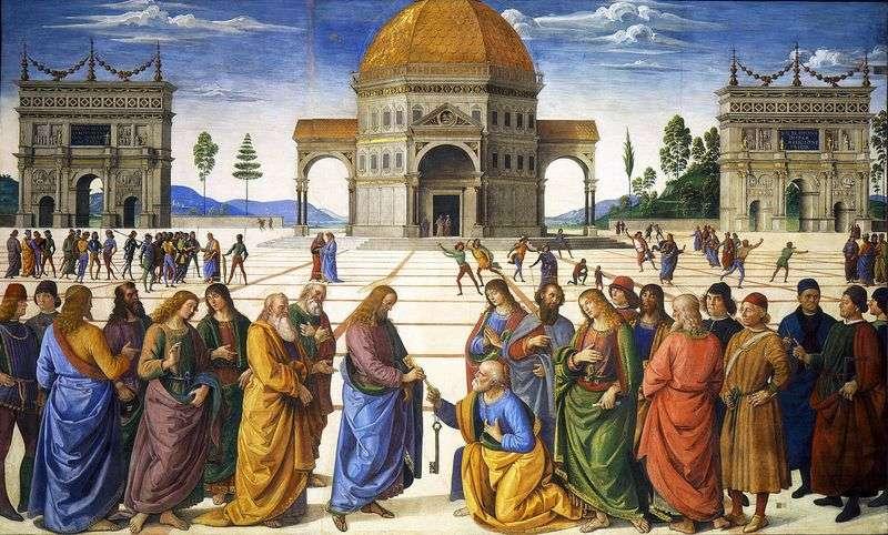 Przekazanie kluczy Apostołowi Piotrowi   Pietro Perugino