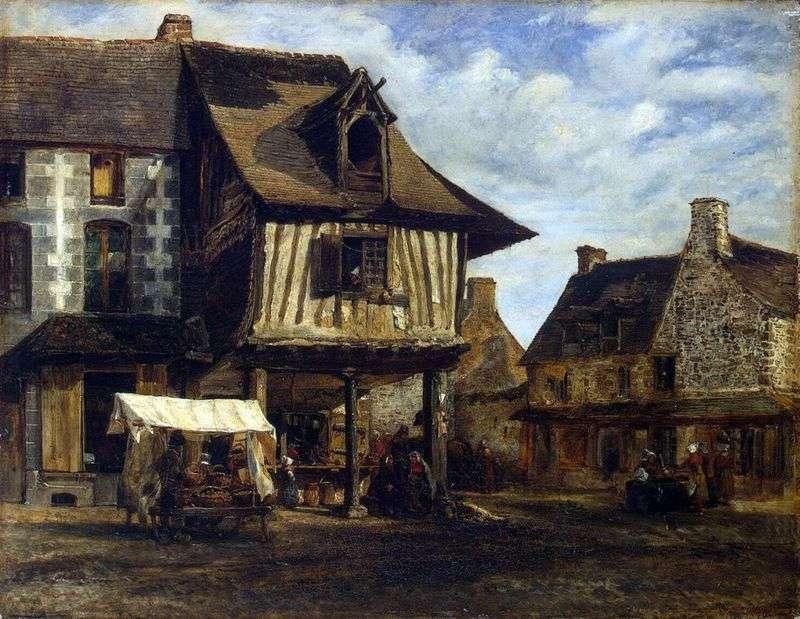 Rynek Normandzki   Theodore Rousseau