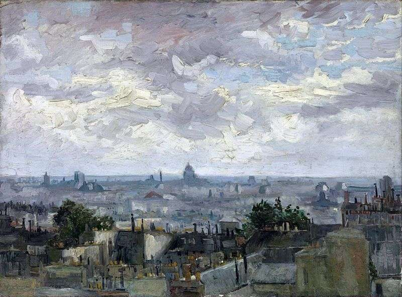 Widok na dachy Paryża   Vincent Van Gogh
