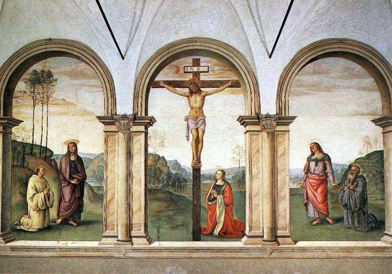 Tryptyk fresk Ukrzyżowanie   Pietro di Cristoforo Vanucci Perugino