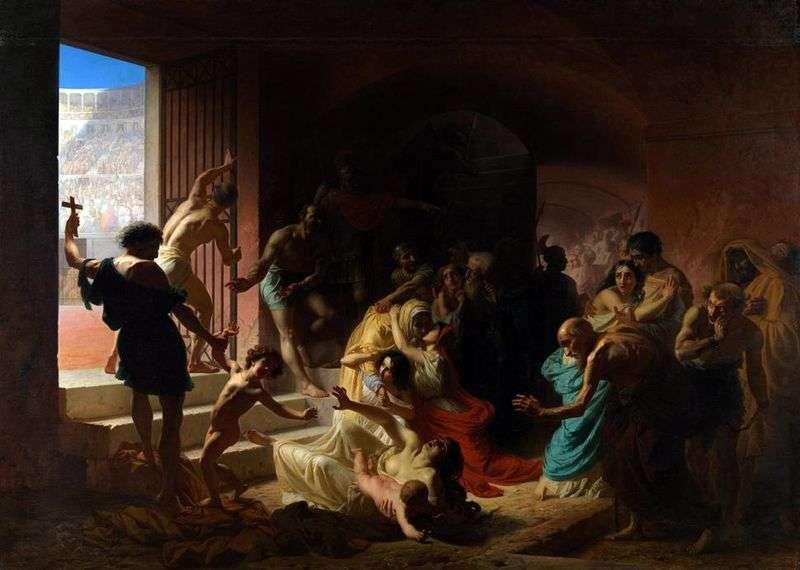 Chrześcijańscy męczennicy w Koloseum   Konstantin Flavitsky