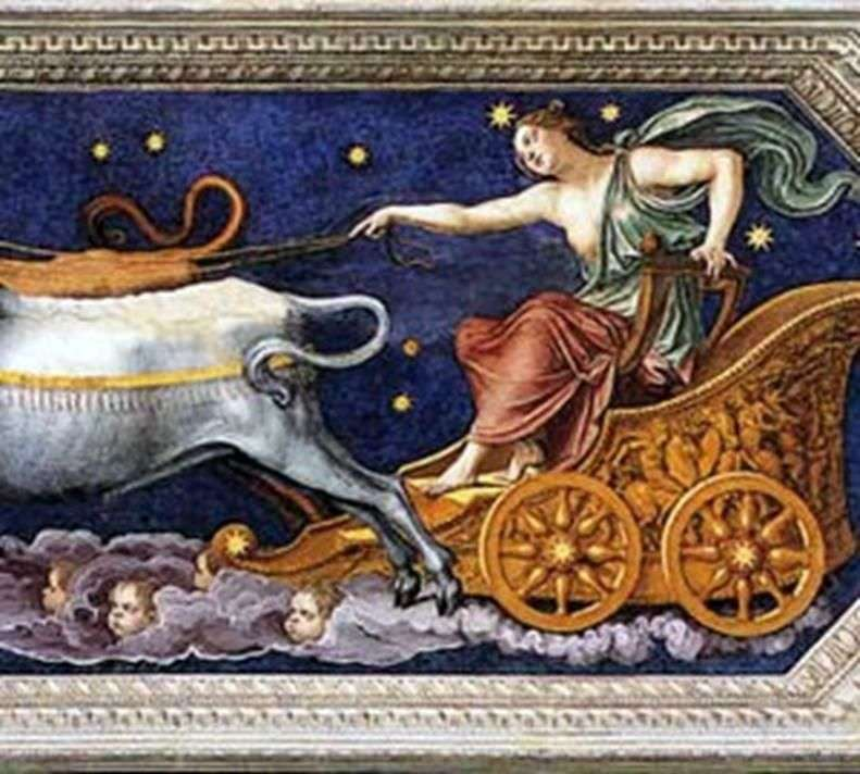 Nimfa Callisto w rydwanie Jowisza   Baldassare Peruzzi