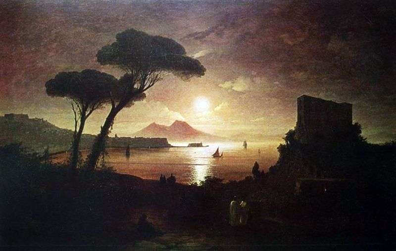 Neapolitańska zatoka w świetle księżyca   Iwan Ajwazowski