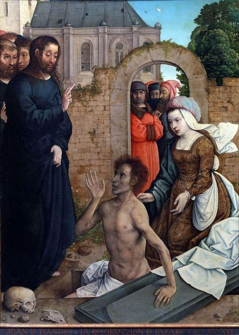 Zmartwychwstanie Łazarza   Juan de Flandes