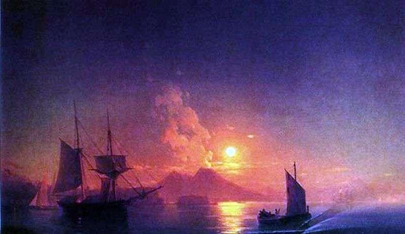 Neapolitańska zatoka w księżycową noc   Iwan Ajwazowski