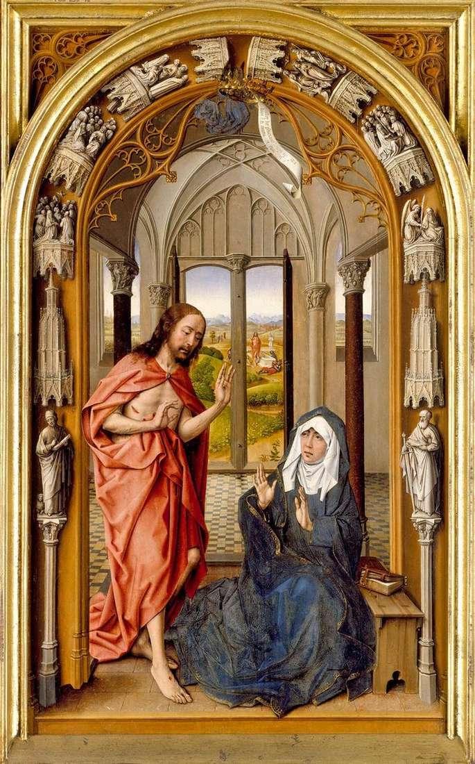 Objawienie Chrystusa Maryi   Juan de Flandes