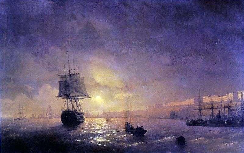 Odessa w nocy   Ivan Aivazovsky