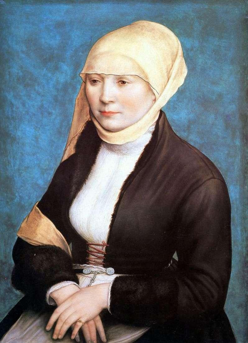 Portret kobiety   Hans Holbein