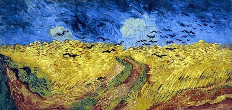 Wrony w polu pszenicy (pole pszenicy z krukami)   Vincent Van Gogh