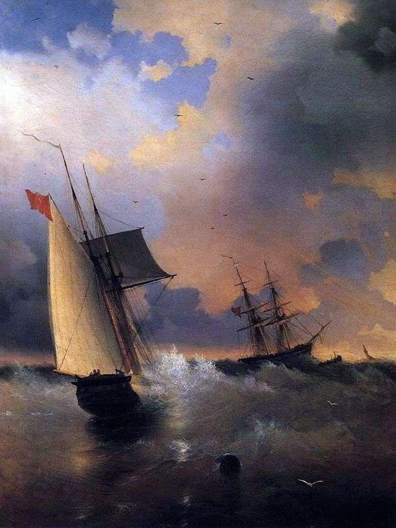 Żaglówka   Ivan Aivazovsky