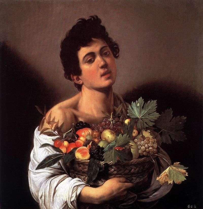 Chłopiec z koszem owoców   Michelangelo Merisi da Caravaggio