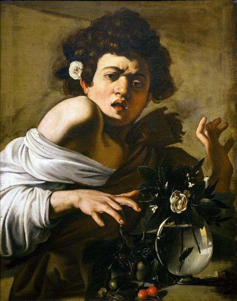 Chłopiec ugryziony przez jaszczurkę   Michelangelo Merisi da Caravaggio