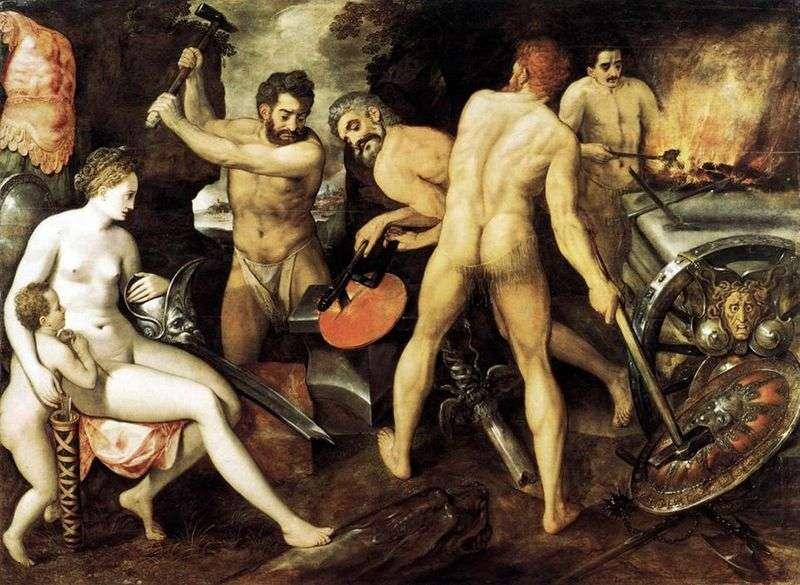 Wenus w kuźni Vulcan   Frans Floris