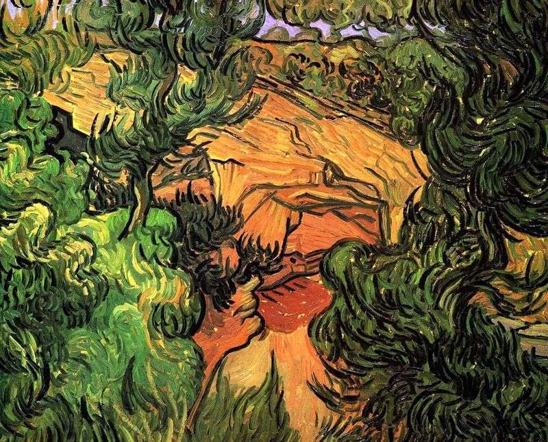 Wejście do kamieniołomu   Vincent Van Gogh