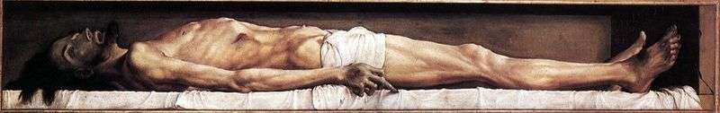Martwy Chrystus   Hans Holbein