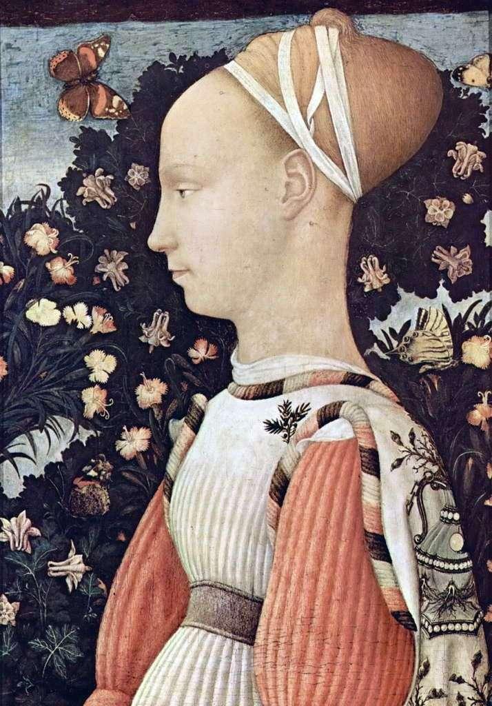 Portret Ginevra d Este   Antonio Pisanello