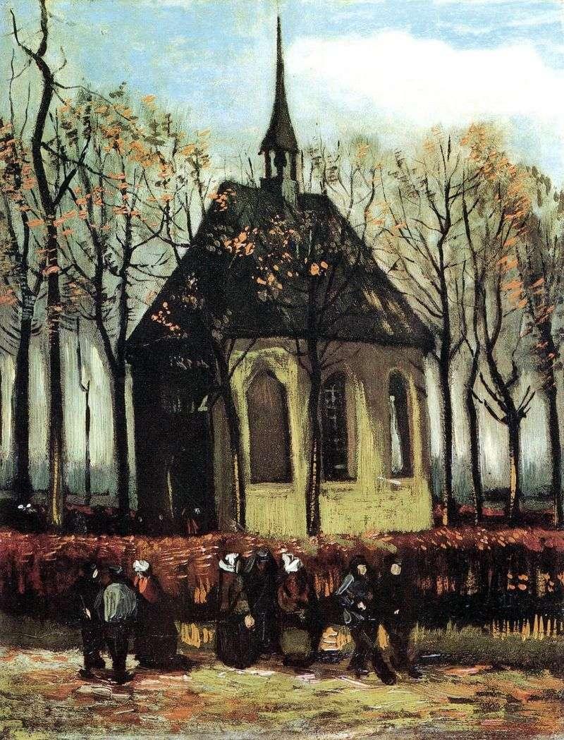 Wyjście z kościoła protestanckiego w Nuenen   Vincent van Gogh