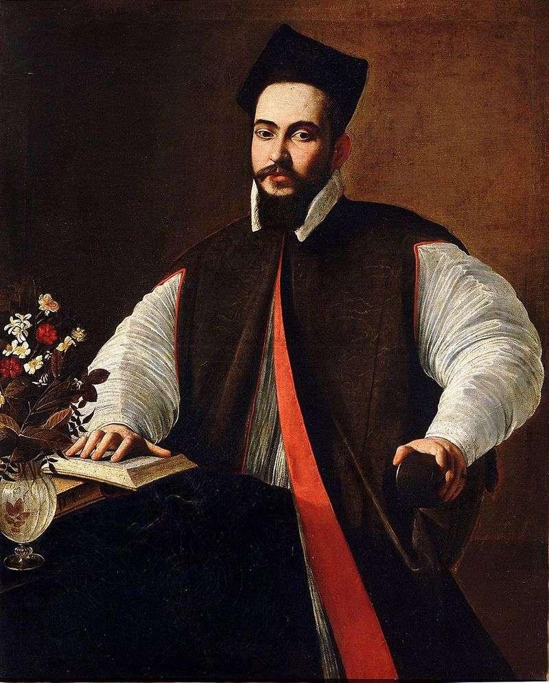 Maffeo Barberini, przyszły papież Urban VIII   Michelangelo Merisi da Caravaggio