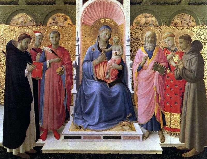 Madonna i dziecko ze świętymi   Angelico Fra