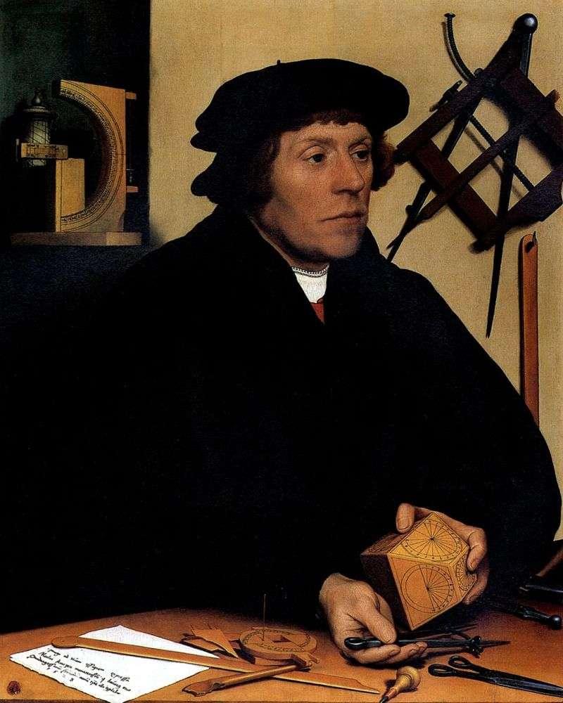 Portret astronoma Nikolausa Kratzer   Hansa Holbeina
