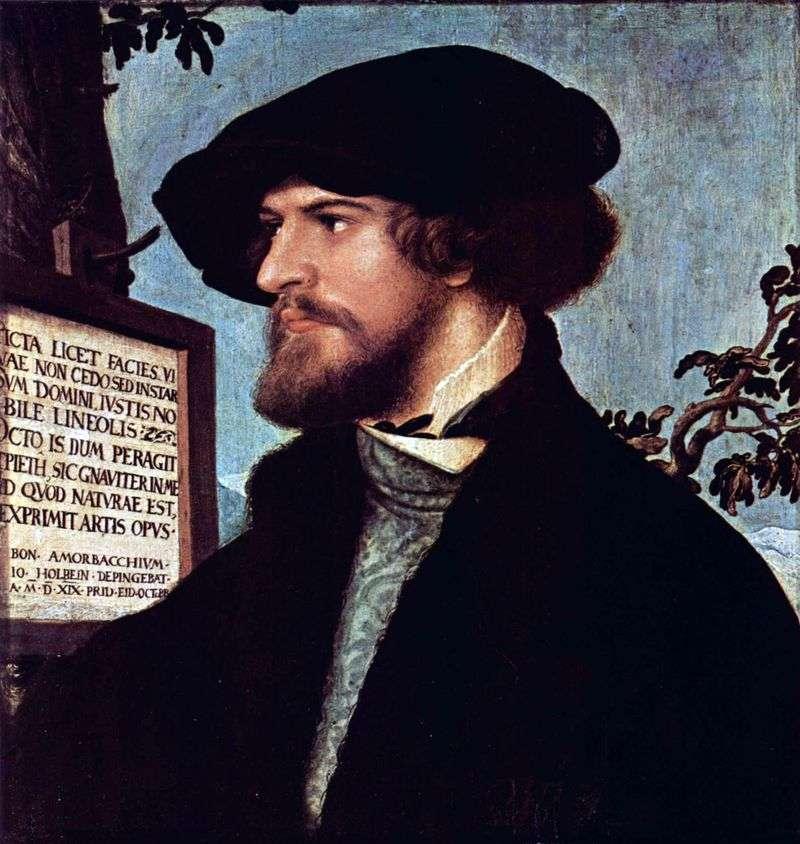 Portret Bonifacego Amerbacha   Hansa Holbeina