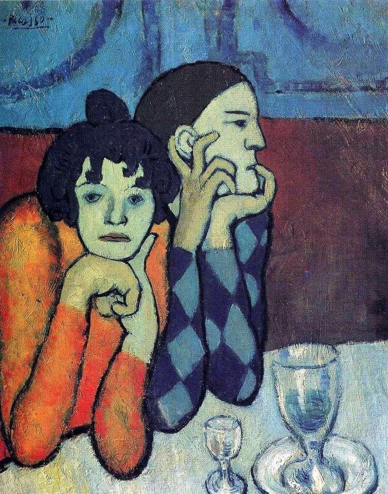 Arlekin i jego dziewczyna   Pablo Picasso