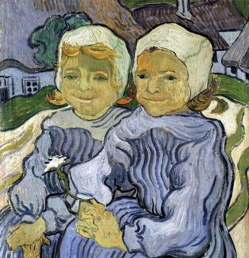 Dwoje dzieci   Vincent Van Gogh