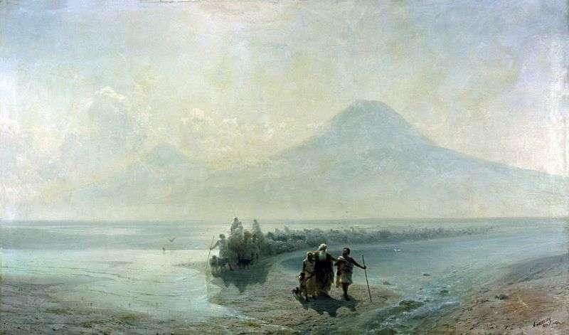 Zstąpienie Noego z Ararat   Iwan Ajwazowski