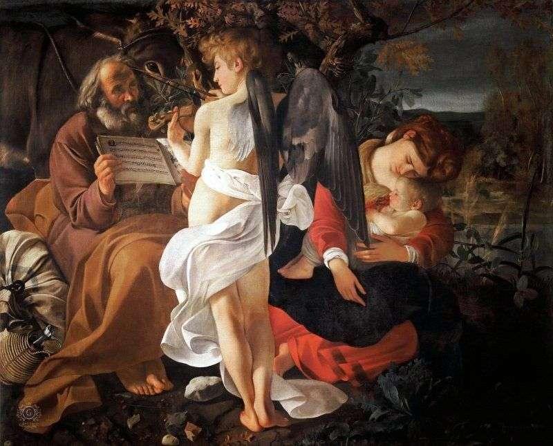 Odpocznij w locie do Egiptu   Michelangelo Merisi da Caravaggio