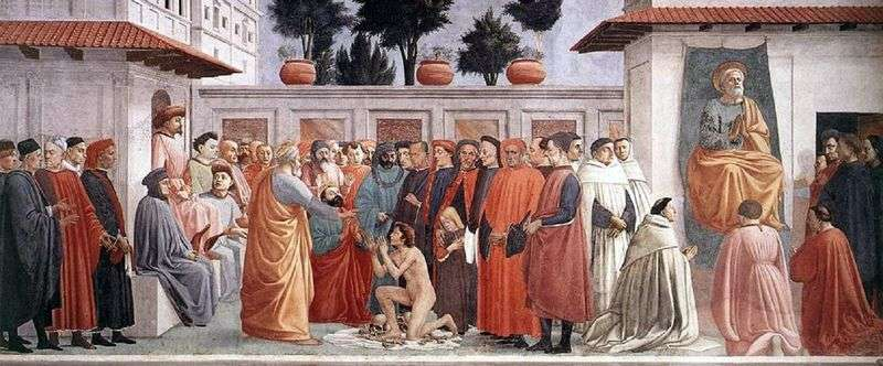 Zmartwychwstanie syna Teofila   Masaccia i Filippino Lippi