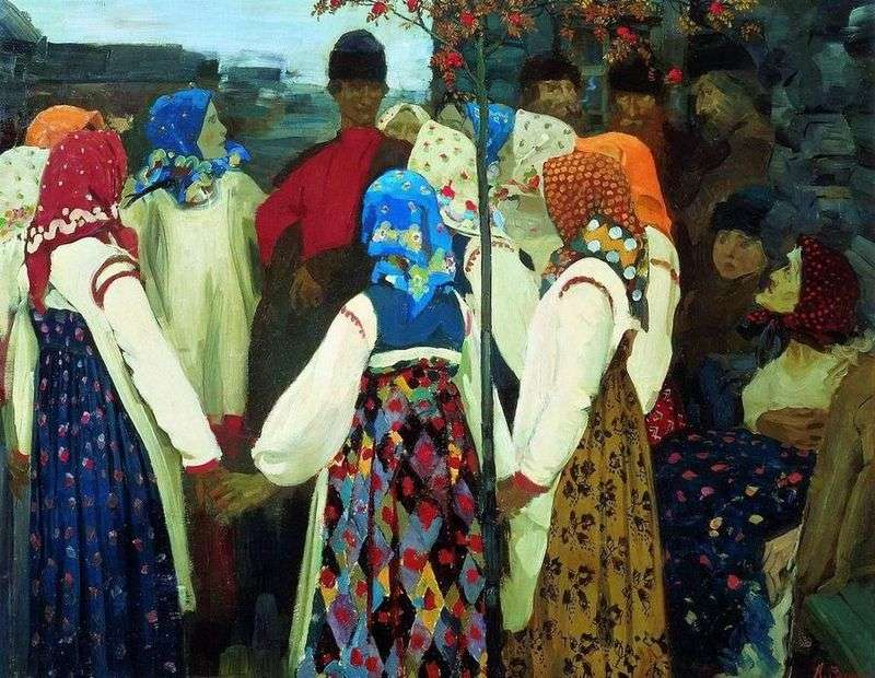 Wcierał faceta w taniec, cóż, stara kobieta jęczy.   Andrey Ryabushkin