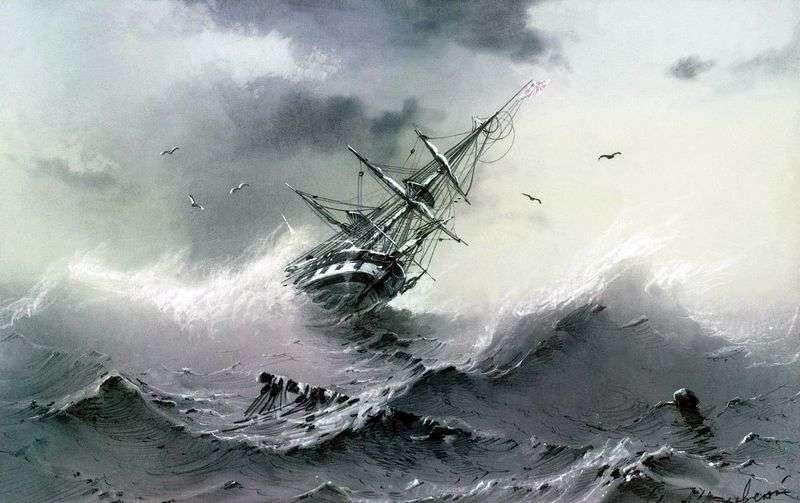 Tonący statek   Ivan Aivazovsky