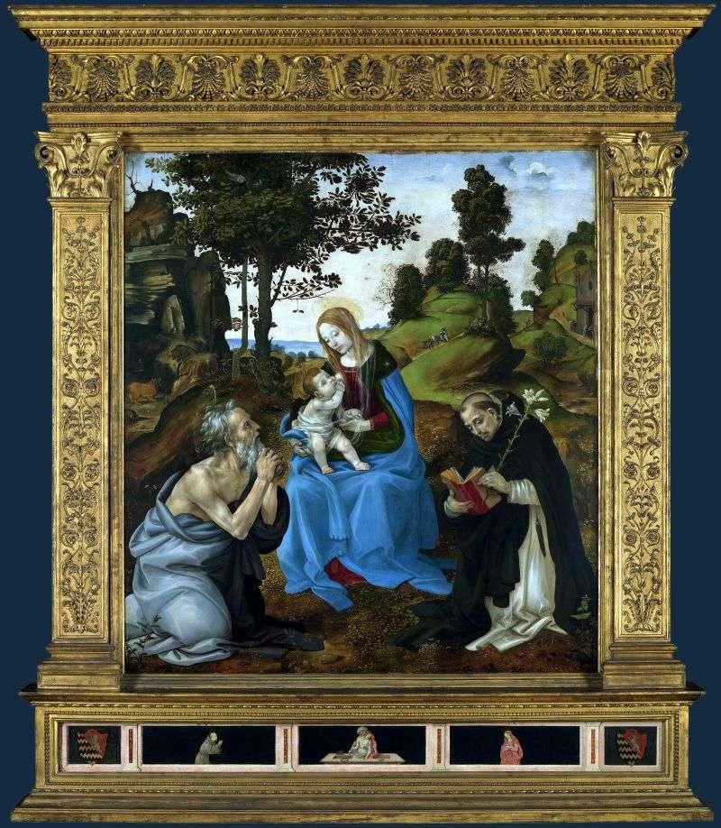 Madonna i dziecko ze świętymi Jerome i Dominic   Filippino Lippi