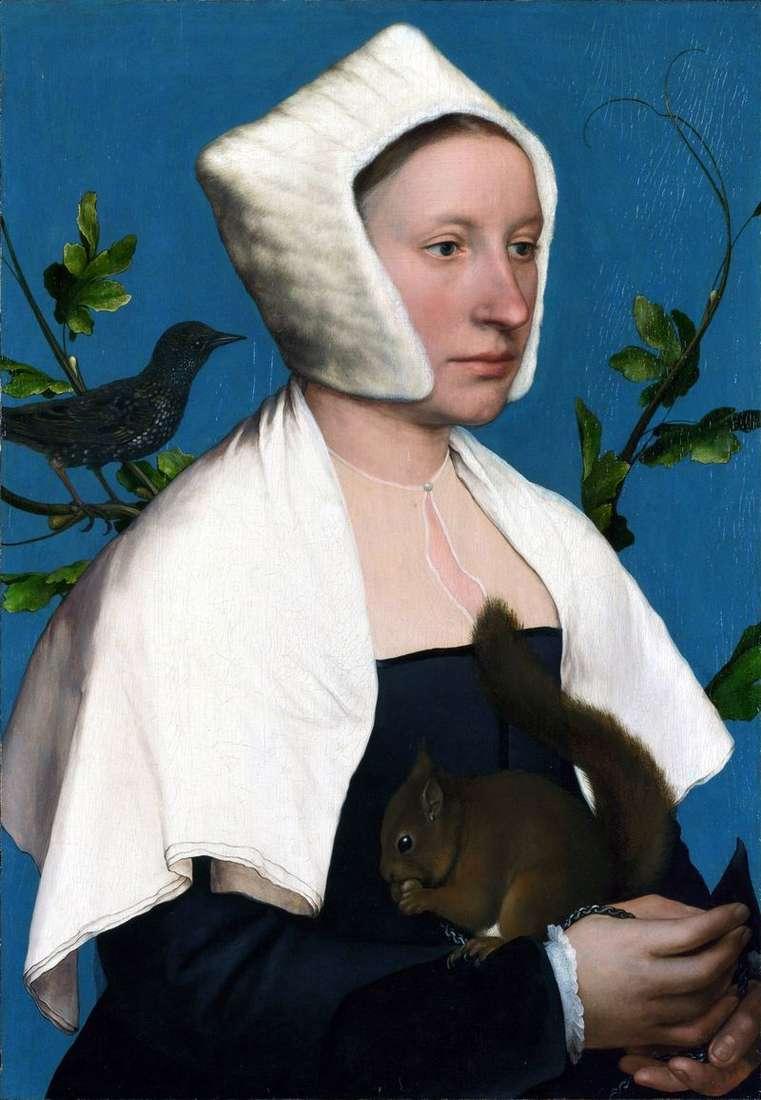 Portret damy z wiewiórką   Hans Holbein