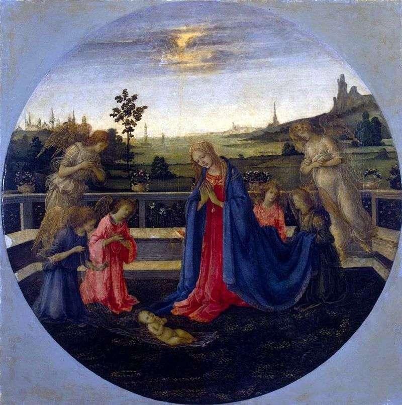 Adoracja Dzieciątka Jezus   Filippino Lippi